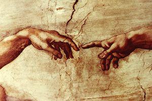 God and Adam touching